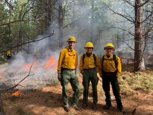 John Williams, Ashley Grupenhoff, and Becky Wayman at an rx burn