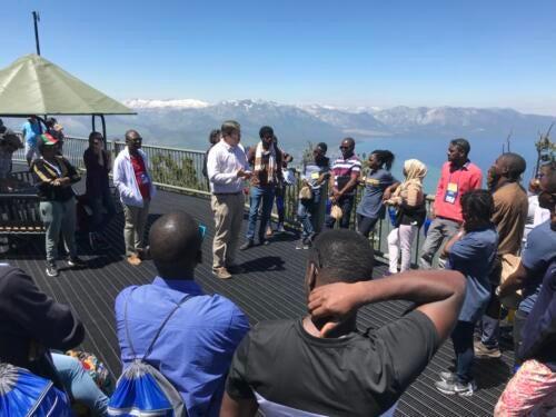 Lake Tahoe lecture to Washington-Mandela Scholars Group