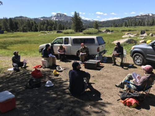 Field training for prescribed burn monitoring crews, 2020