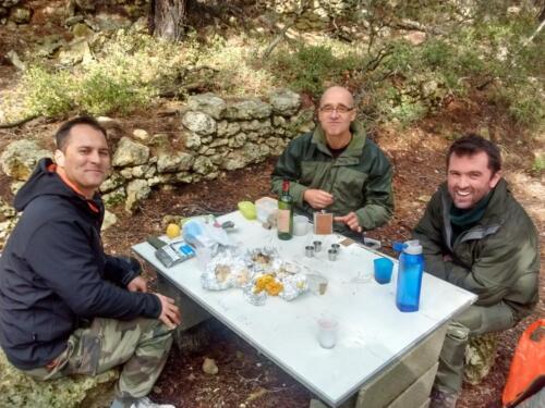 Feld lunch with IRSTEA staff, near Etang de Berre, southern France, 2018