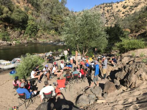 UC Watershed Science Center field class, Tuolumne River, 6-2018